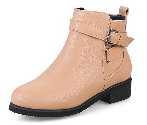 Chaussures à fermeture éclair abricot femme e8lPx2Xr