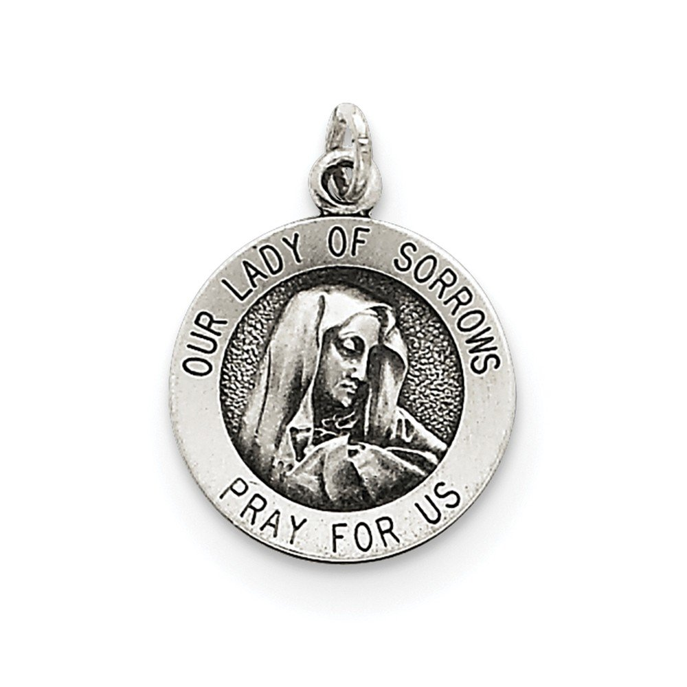 925 Sterling Silver Solid /& Antique Our Lady of Fatima Medal