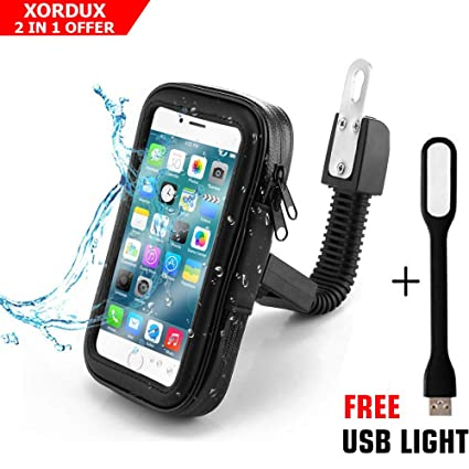 big sale abe0a fe399 XORDUX Today Offer : Mobile Holder for Bikes Waterproof | Waterproof Mobile  Holder for Bike/Motorcycle Mobile Holder Universal Zip Pouch Style - 5.5 ...