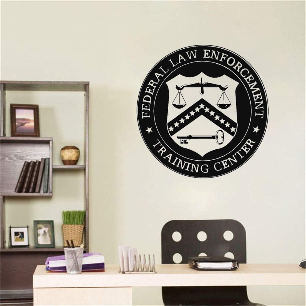 wZUN Bufete de Abogados Logo Abogado Vinilo calcomanía Etiqueta Personalizada Nombre de la Empresa Escala judicial decoración 63X63cm