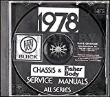 1978 Buick Repair Shop Manual and Body Manual CD-ROM