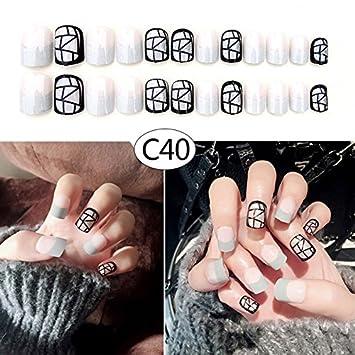 Lzn 24 Teile Satz Kunstliche Fingernagel Kunstliche Nagel 3d Mit