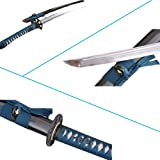 Lyuesword Japanese Folded Steel Katana Battle Ready Clay Tempered Sword