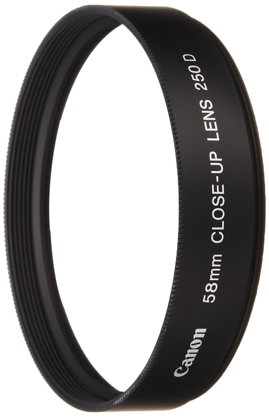 Canon 250D, 58mm Close-up Lens for The Powershot G-1, G-2 and G-3 Digital Cameras. by Canon