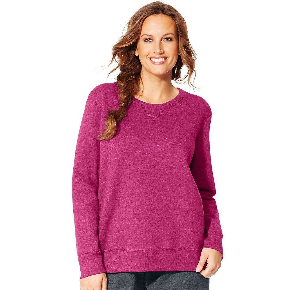 Just My Size Women's Plus-Size V-Notch Sweatshirt Just My Size Activewear OJ098