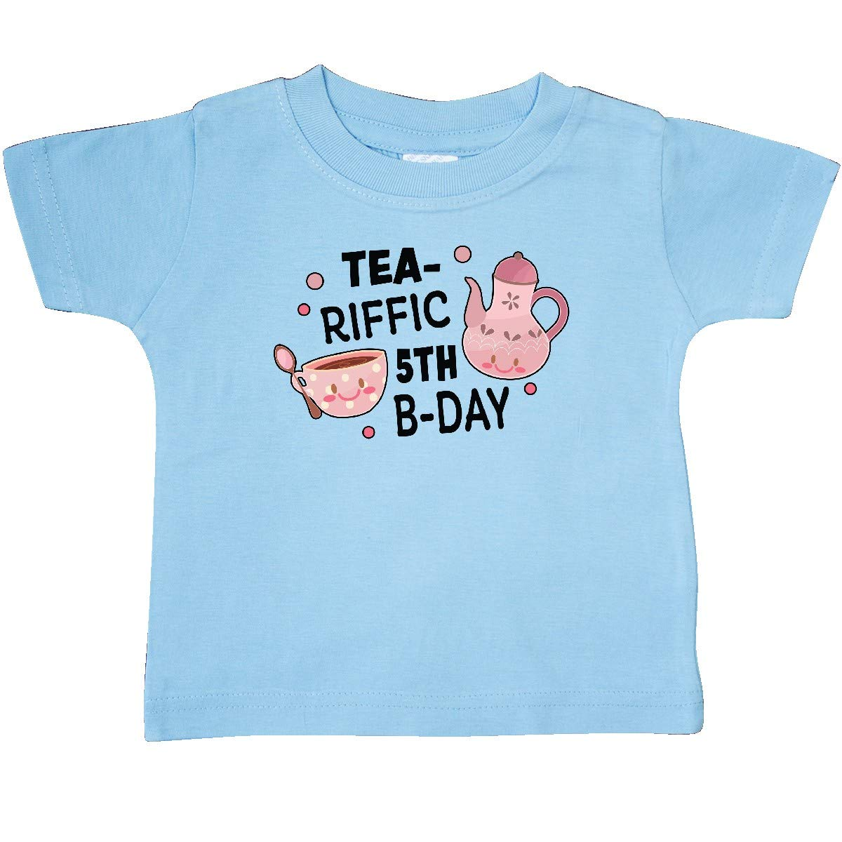 inktastic Tea-riffic 5th Birthday with Teacup and Pot Baby T-Shirt