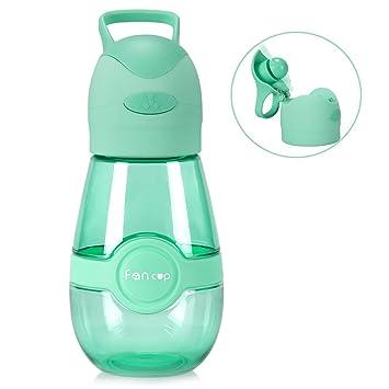 Amazon.com: garunk botella de agua para niños con ventilador ...