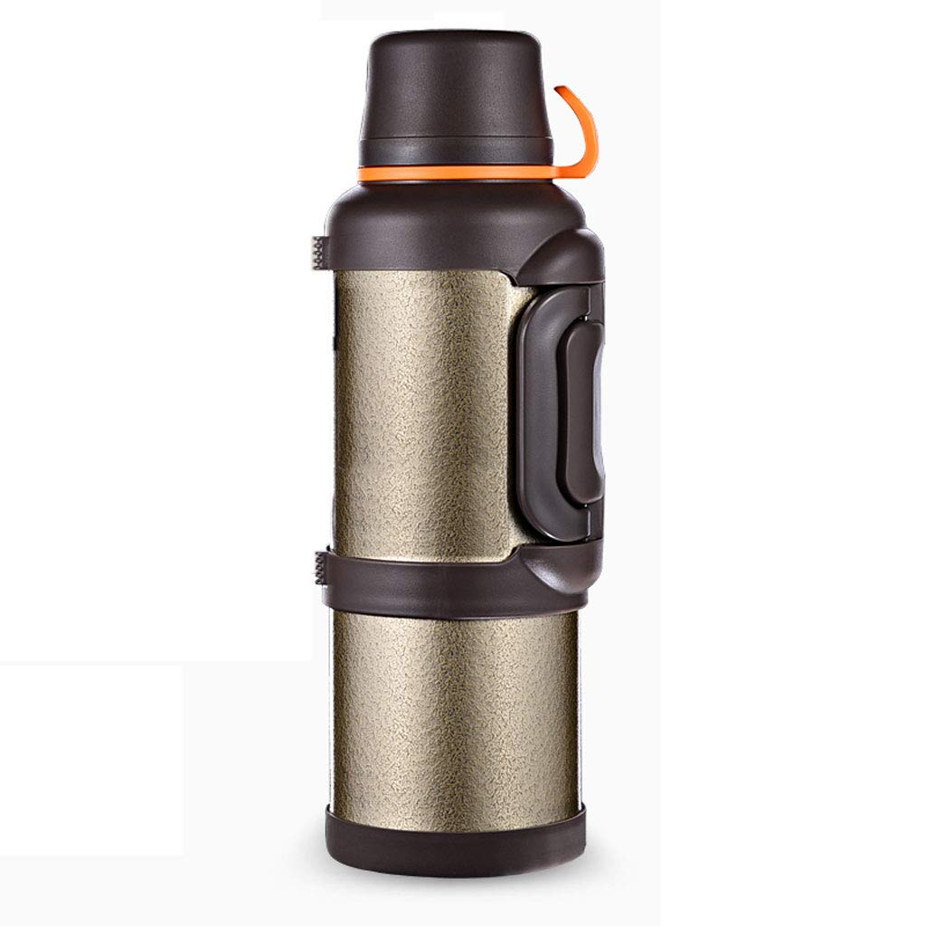 WLHW Trinkflaschen Isolierungs-Kessel-Topf-Flasche, Haushalts-im Freienauto-Last-große Kapazität Heißwasser 304 Edelstahl-Reise-Schale 4L