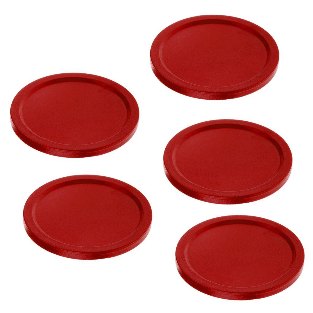 D DOLITY Set de 5pcs Pales Rondelles de Hockey de Table Air Hockey Pucks Forme Ronde - Noir, 50mm