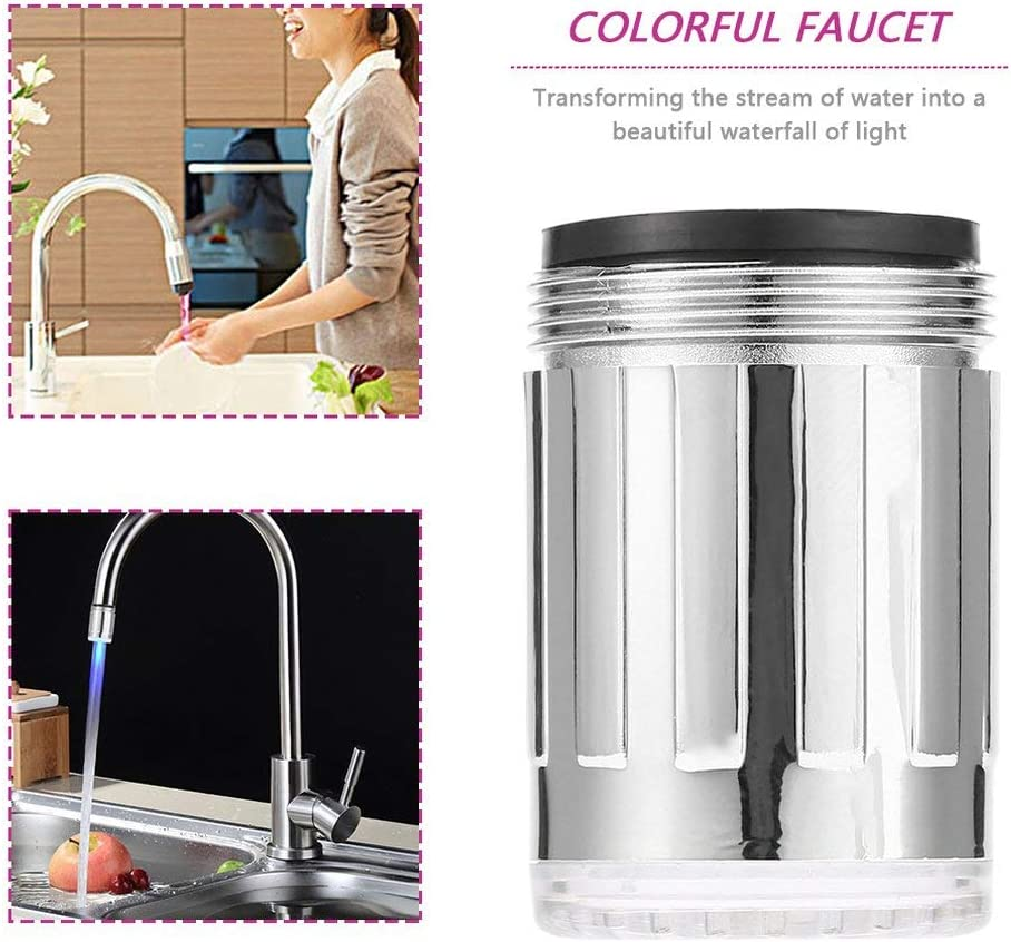 Light Pressure Sensor 3 Colors RGB Faucet Head Mini for Home Kitchen Bathroom Accessories YONE Water Tap Shower Faucet Head