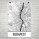 Budapest Poster, Budapest Art Print, Budapest Wall Art, Budapest Map, Budapest City Map, Budapest Hungary City Map Art,Budapest Gift,Budapest Decor, (24
