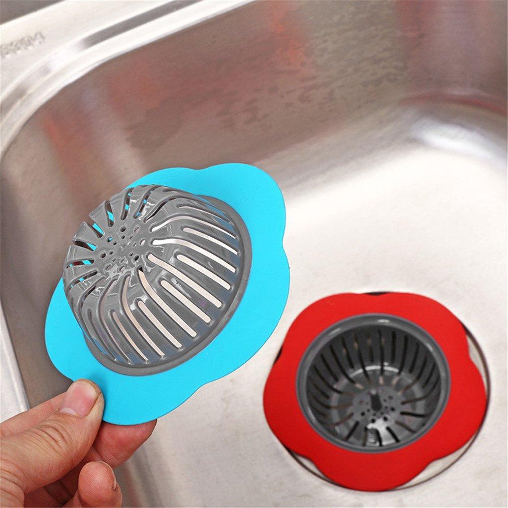 sunnymi Bath or Kitchen Water Stainless Steel Sink Strainer Cover Floor Drain Plug Bath Catcher Drain Plug