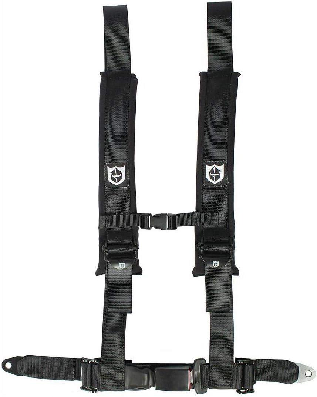 "PRO ARMOR 4 Point Harness 3/"" Pads Seat Belt PAIR W BYPASS BLACK RZR XP1000 1KXP"