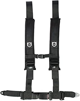 Pro Armor 4 Point 2 Padded Seat Harness Pair Mount Kit Bypass Red Maverick X3