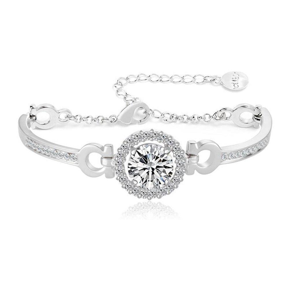 DULEE Simple Zircon Women's Bracelet Fashion Temperament Bracelet