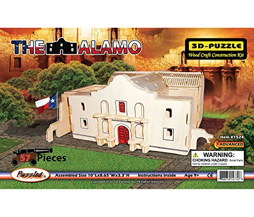 Puzzled The Alamo 3-D Wooden Puzzle Construction Kit - Famous Sites/Buldings Theme - Affordable Gift For Kids and Adults - Item #1524