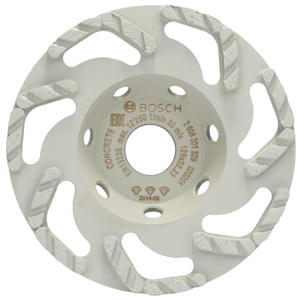 2608201229 BOSCH DIAMOND GRINDING HEAD BEST FOR CONCRETE 125 X 22.23 X 4.5 MM
