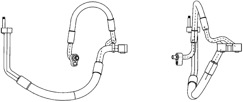 BEHR HELLA SERVICE 9GS 351 338-421 *** PREMIUM LINE *** Conduite à haute/basse pression, climatisation, du compresseur d'air au condensateur du compresseur d'air au condensateur Hella KGaA Hueck & Co.