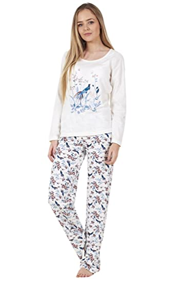 b5318092a9 BHS Ladies Long Sleeve Love Cotton PJ s Set Nightwear Womens Pyjamas   Amazon.co.uk  Clothing