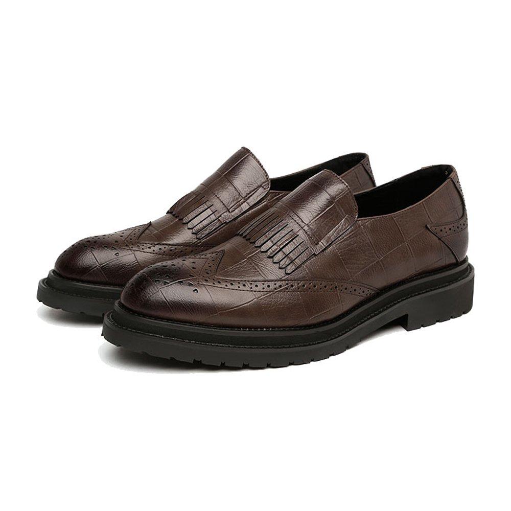 SCSY-Oxford-Schuhe PU-Leder-Schuhe der einfachen Männer Klassische Beleg-auf Quasten-Dekoration Breathable Formale Formale Formale Geschäfts-gefütterte Outsole Oxfords  7a71e3