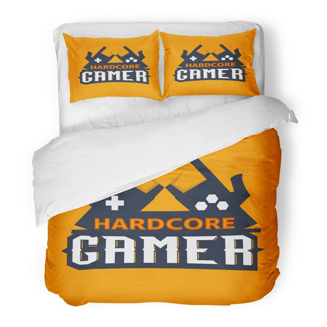 SanChic Duvet Cover Set Game Gamer Hardcore Joystick Wireless Abstract Activity Button Decorative Bedding Set with 2 Pillow Shams Full/Queen Size