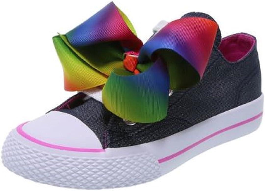3 JoJo Siwa Girls Shoes Rainbow Bow Sneaker Low Casul Denim Blue