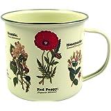 Gift Republic Tasse émaillée Motif fleurs sauvages
