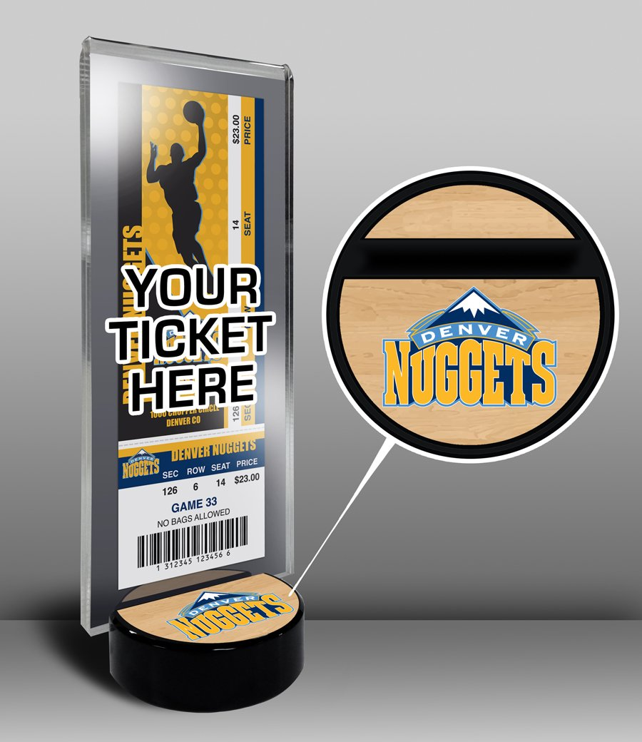That's My Ticket NBA Denver Nuggets Ticket Display Stand, One Size, Multicolored