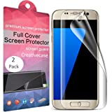 Amazon Price History for:Galaxy S7 Edge Screen Protector,S7 Edge Screen Protector,Creativecase 2-Pack [Full Coverage][Case Friendly][Not Glass][Anti-Scratch] Clear Screen Protector for Samsung Galaxy S7 Edge