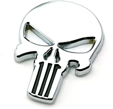 Metall Emblem Aufkleber Punisher Chrom Auto