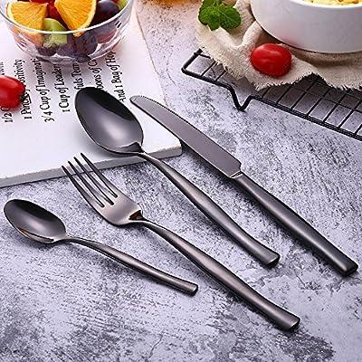 Amazon.com: LNGRY Cucharas de acero inoxidable de 4 piezas ...