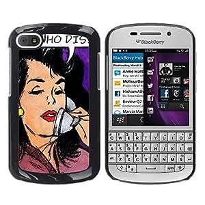 Dragon Case - FOR BlackBerry Q10 - ?Happiness is waiting - Caja protectora de pl??stico duro de la cubierta Dise?¡Ào Slim Fit