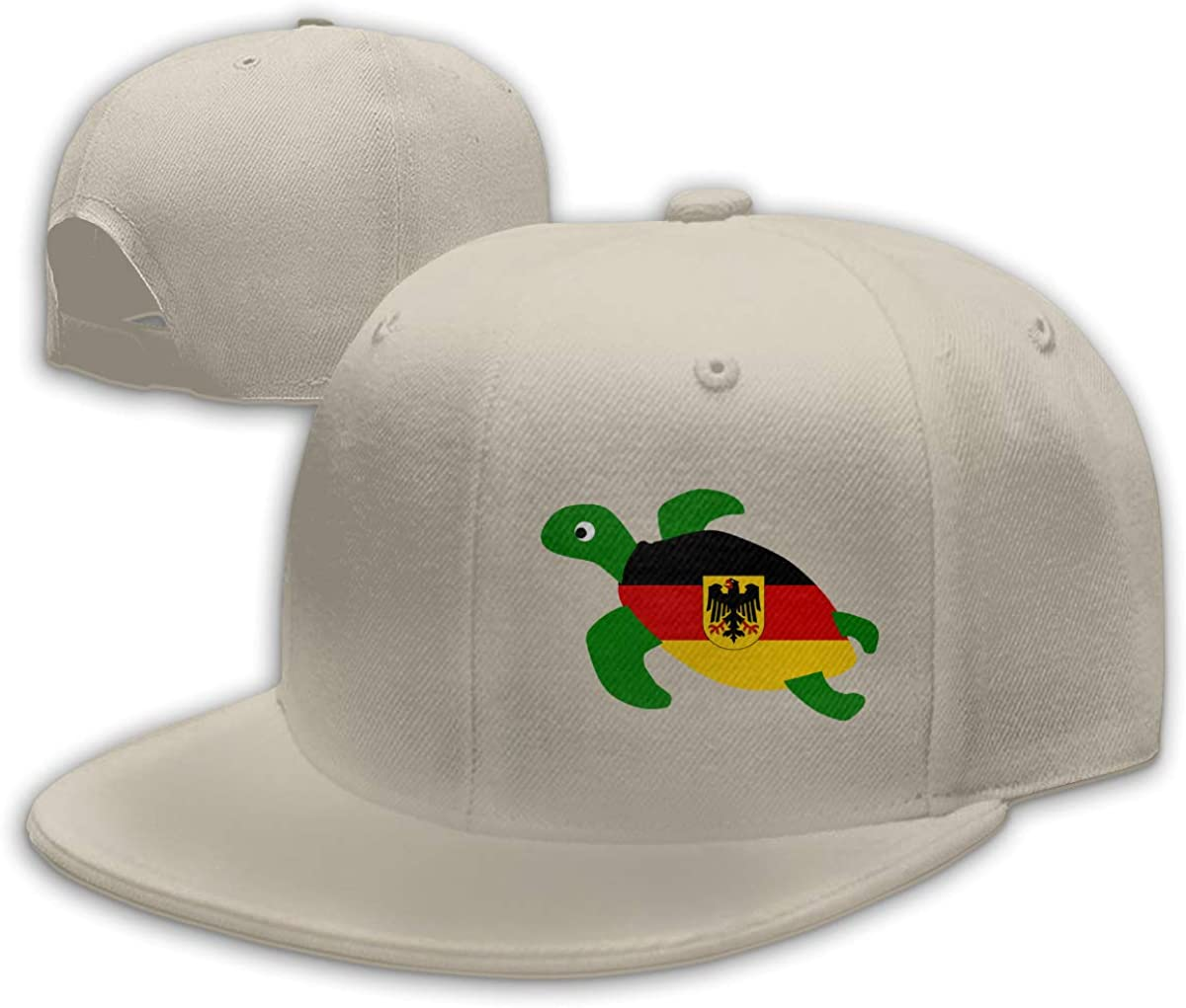 Sea Turtle Deutschland Flag Adjustable Flat Bill Snapback Baseball Hip-hop Cap Hat