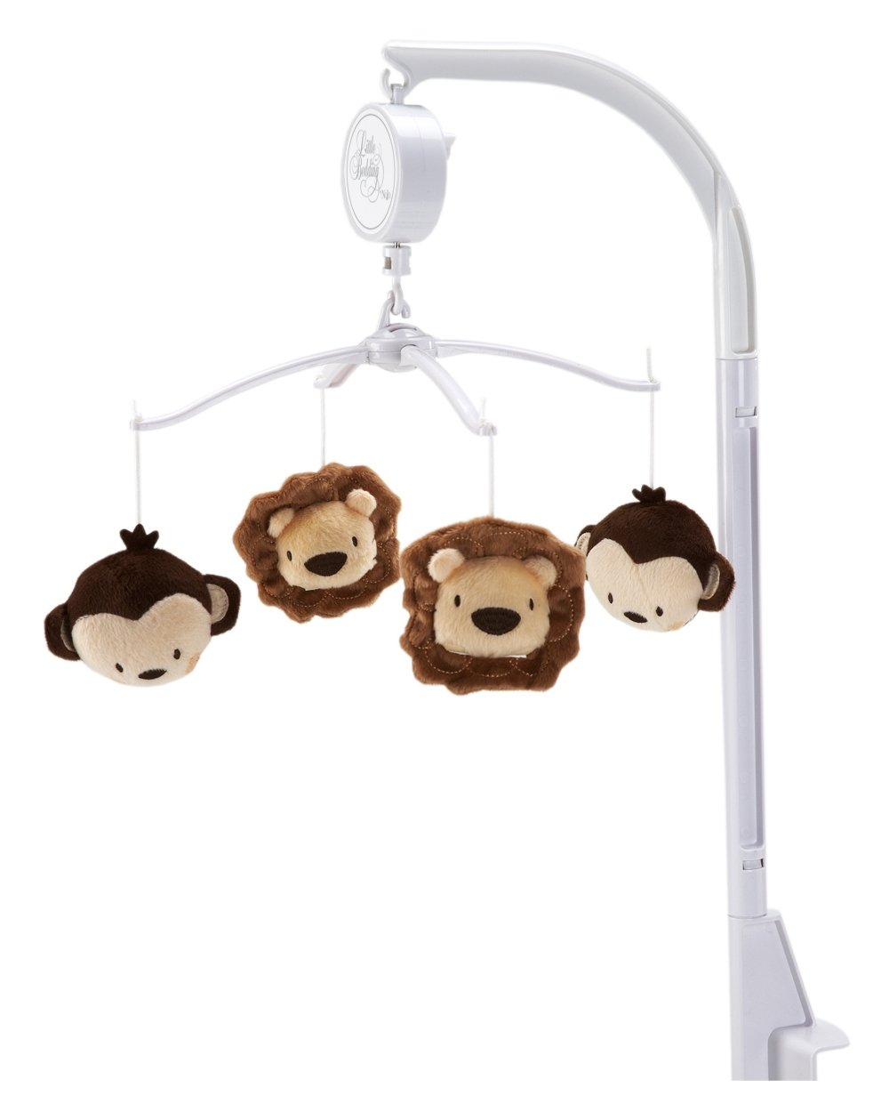 Little Bedding by NoJo Jungle Pals Musical Mobile Crown Craft Infant Products 7660079 jungle-pals-musical-mobile1
