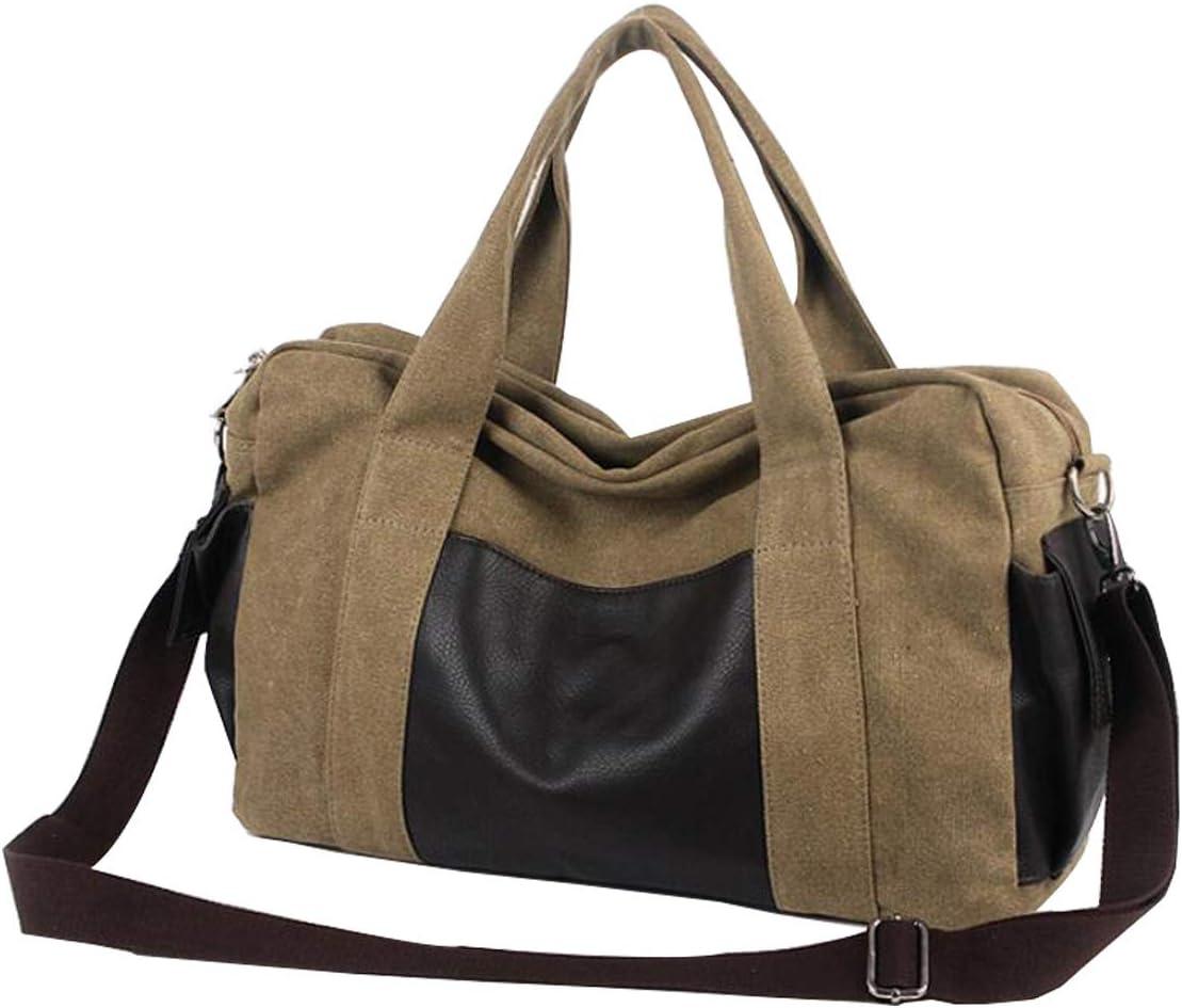 Overnight Bag, Canvas Duffel Weekend Carry on Bag Shoulder Handbag for men women