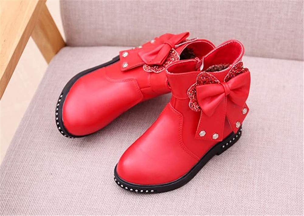 Quality.A Girls Princess Boots Bow Martin Boots Flat Boots