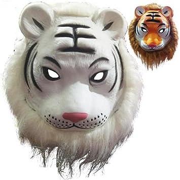 PromMask Mascara Facial Careta Protector de Cara dominó Frente Falso Animal máscara león Tigre Lobo orangután
