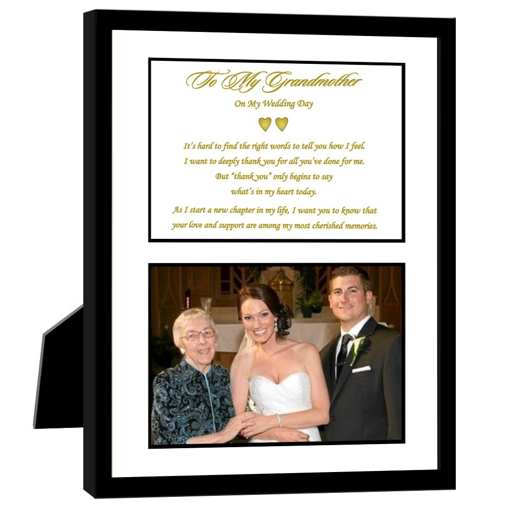 Poetry Gifts Grandmother Thank You Wedding Gift from Grandchild, Bride or Groom, Add Photo poetrygifts-27-275