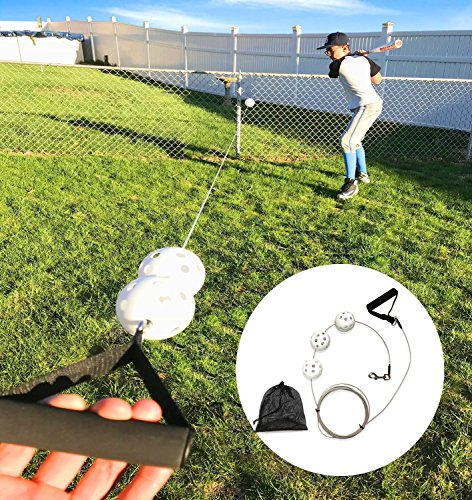 Swingers Ultimate Baseball Trainer - Controlled Pitch Baseball Batting Trainer - Fast setup and Easy to Use - Professional Baseball Tune-Up Kit by Swingers