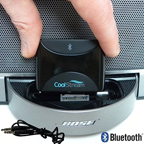 CoolStream Duo Bluetooth Adapter for iPhone iPod Bose Docking Stations and (Built In Ipod Docking)