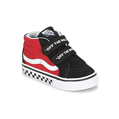 5e33a71c2aa Vans Toddler T SK8 MID Reissue V Logo POP Black True White Size 5