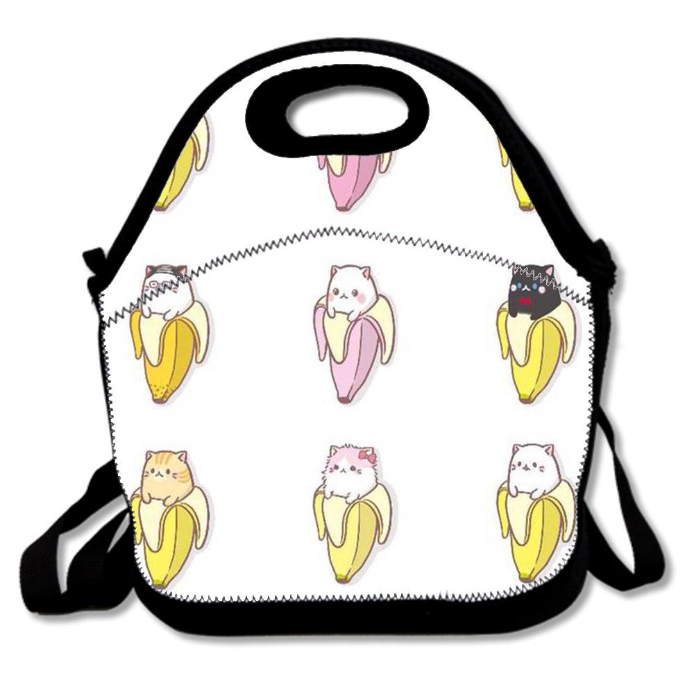 Amazon.com  Fashion Neoprene Lunch Bags Insulated Picnic Lunch Tote Bag  Boxes for Kids Adults Women Men Work School Travel Use - Cute Cats In  Bananas  ... e275465904e38