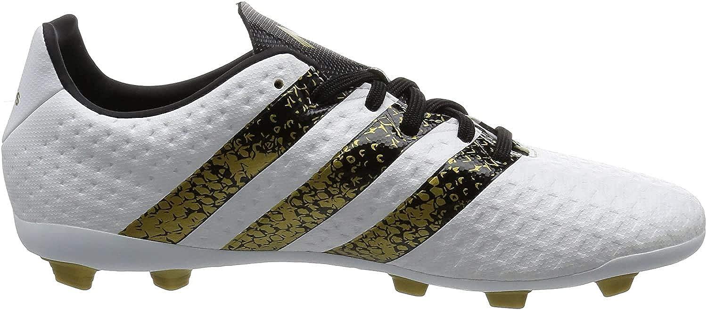 As Desear dolor de estómago  Adidas Boy's Ace 16.4 FxG J Ftwwht, Cblack and Goldmt Sports Shoes - 4  UK/India (36.67 EU): Buy Online at Low Prices in India - Amazon.in