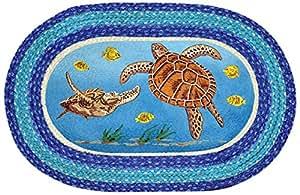La tierra alfombras 65 384st tortuga de oval parche - Alfombras comedor amazon ...