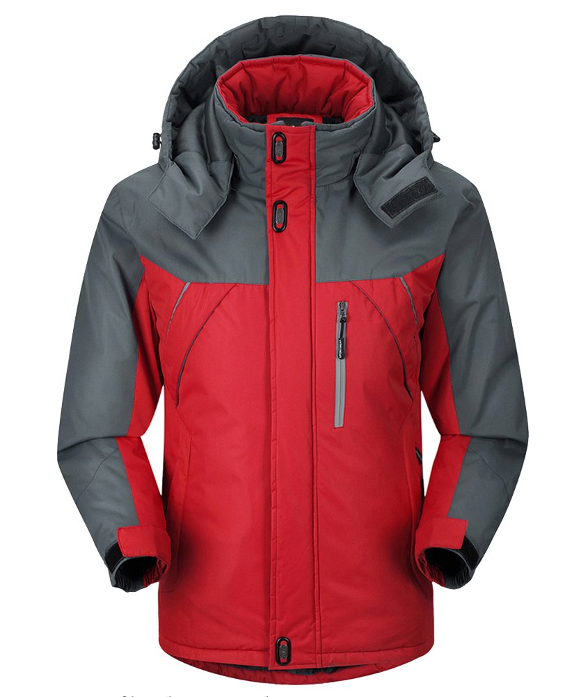 AooToo Mens Jacket Ski Waterproof Mountain Fleece Rainproof S-2XL 20171102001000