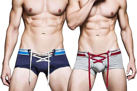 TALLA L. AiJump Pack de Calzoncillos Trunks Slips Briefs para Hombre Ropa Interior Slip Deportivo Shorts Transpirable de Hombre Men's Underwear