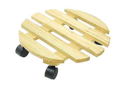 Greengeers 96231 - Soporte redondo para maceta (madera)