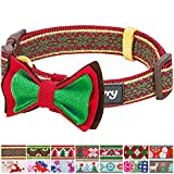"Blueberry Pet 14 Patterns Christmas Nordic-inspired Snowflakes Dog Collar with Detachable Bow Tie, Small, Neck 12""-16"", Adjustable Collars for Dogs"