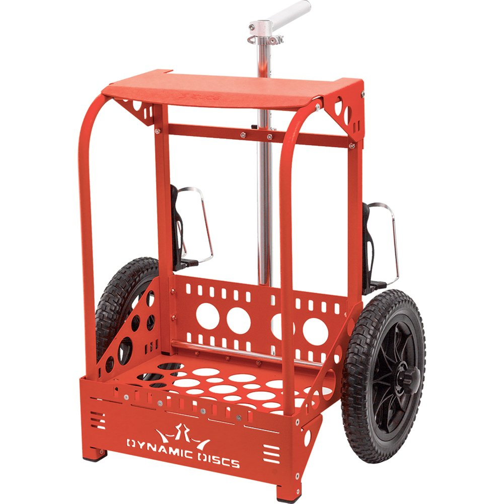 Dynamic Discs Backpack Cart LG by ZÜCA - Offers 50% Greater Capacity Than The Original Backpack Cart - Red