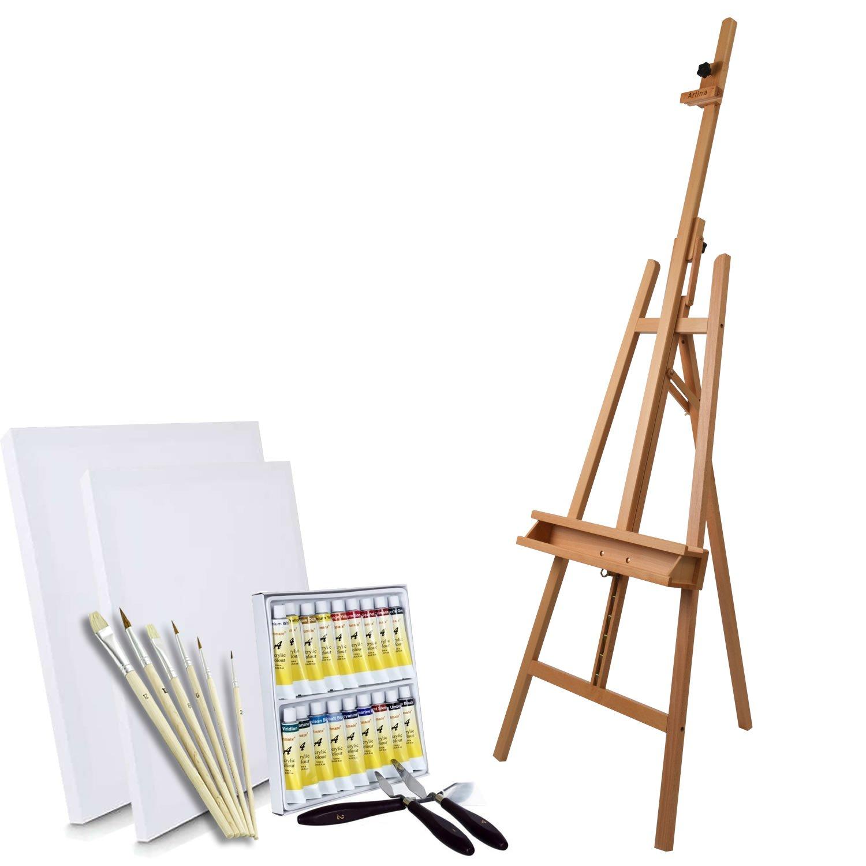 25x30cm Artina paleta de madera redonda para la mezcla de pintura